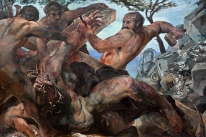 Christ Nailed to the Cross - oil on panel - 8' X 12' - 2000 - $60,000