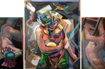 The Repentant Clown (triptych)