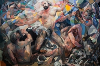 Ressurection - oil on panel - 8\' X 12\' - 2000 - $60,000
